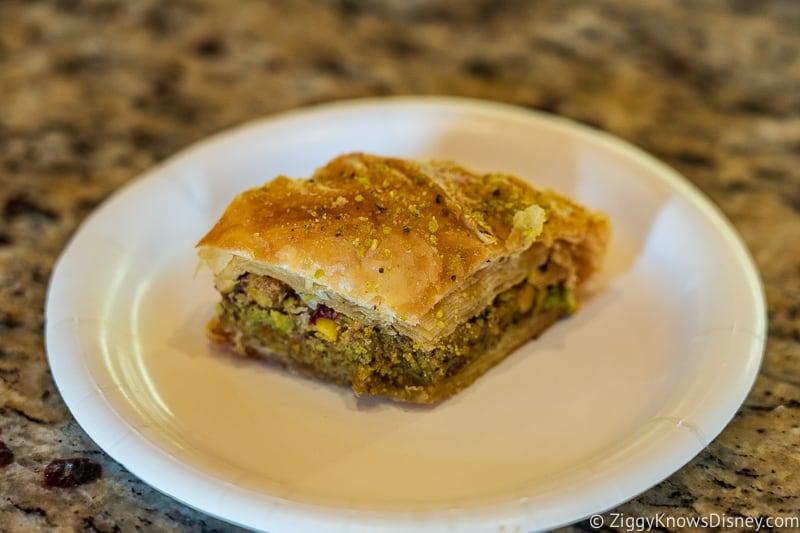 Pistachio Baklava Morocco Pavilion Best Snacks at Epcot