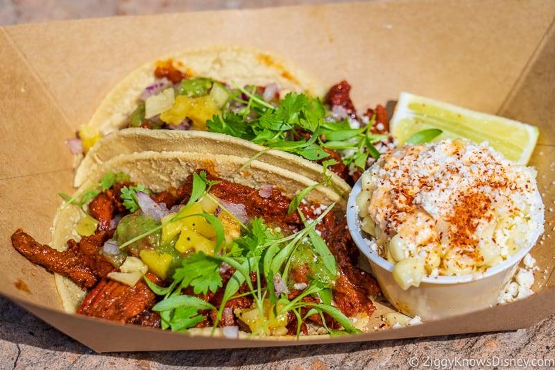 tacos al pastor Mexico pavilion Best Snacks at Epcot