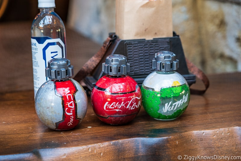 Coke bottles thermal detonators Star Wars Galaxy's Edge