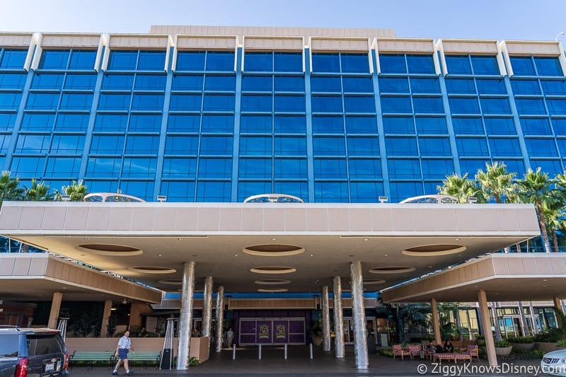 DVC Tower near Disneyland Hotel