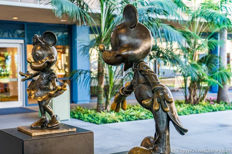 Disneyland Hotel Mickey and Minnie Statues