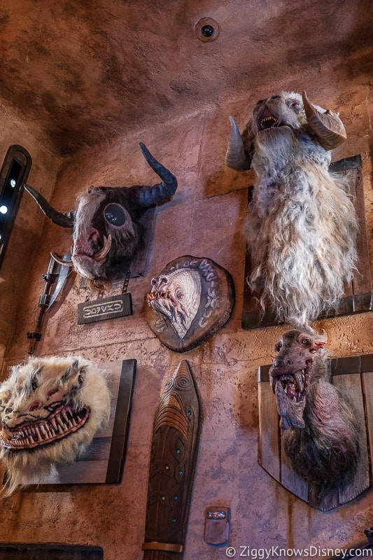 wall of heads Dok Ondar's Den of Antiquities Galaxy's Edge