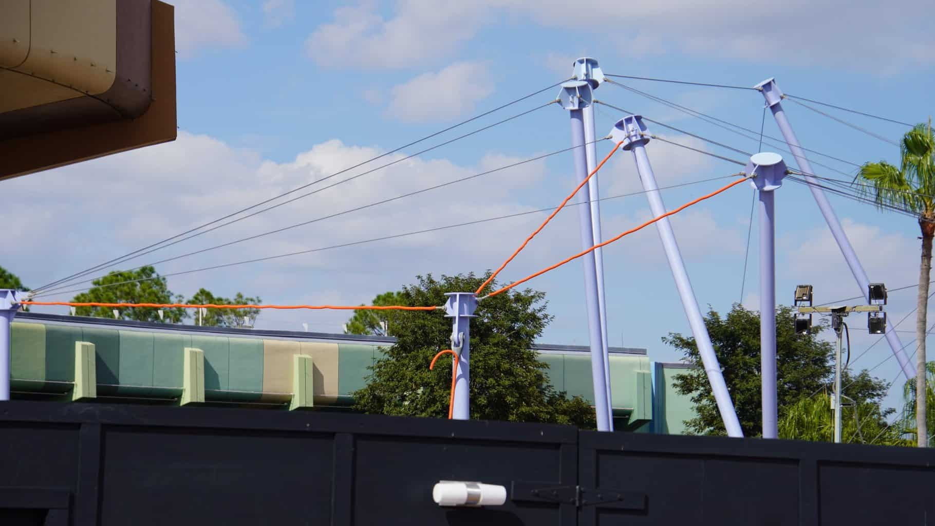 cables coming down Epcot Construction Updates November 2019