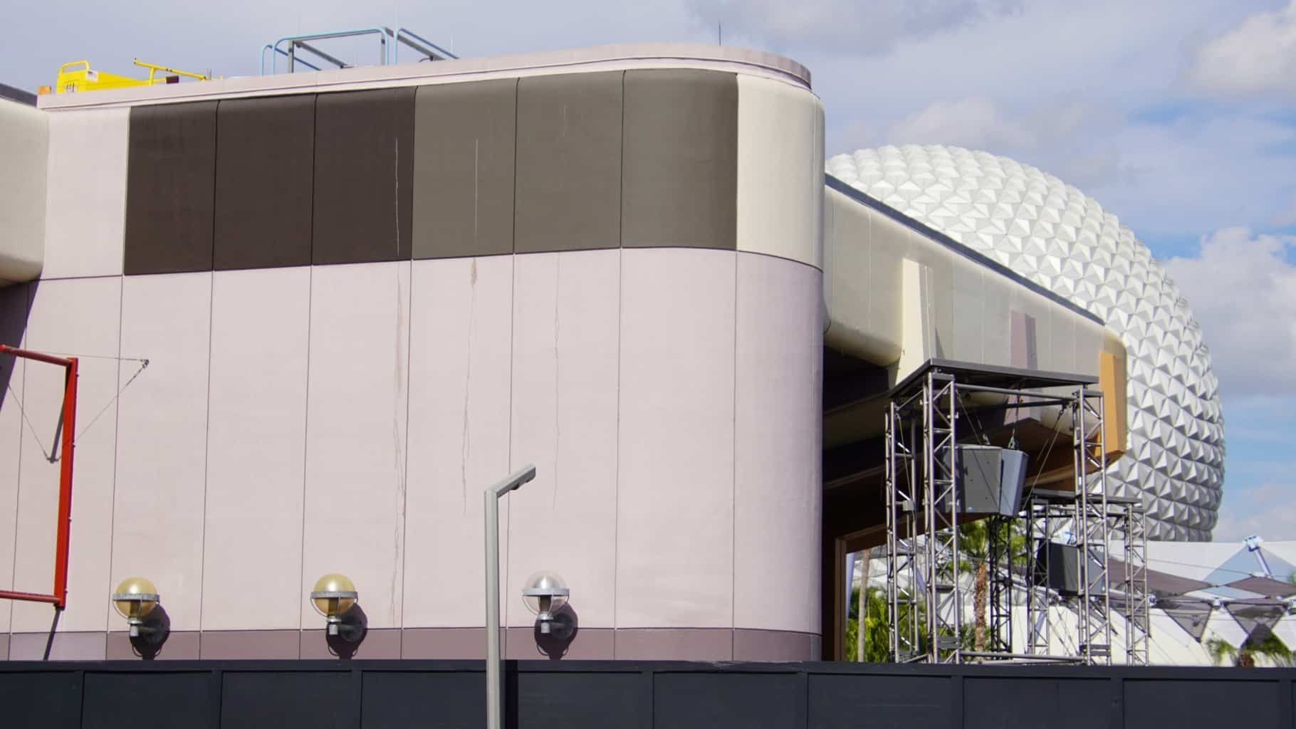 speakers down Innoventions West Epcot Construction Updates November 2019