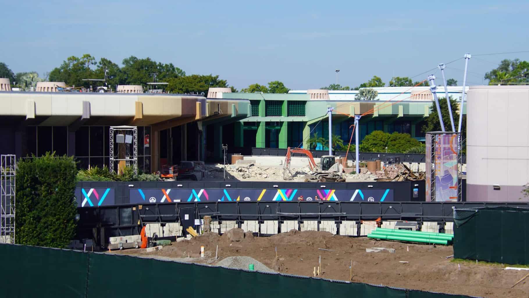 Starbucks demolition Epcot Construction Updates November 2019
