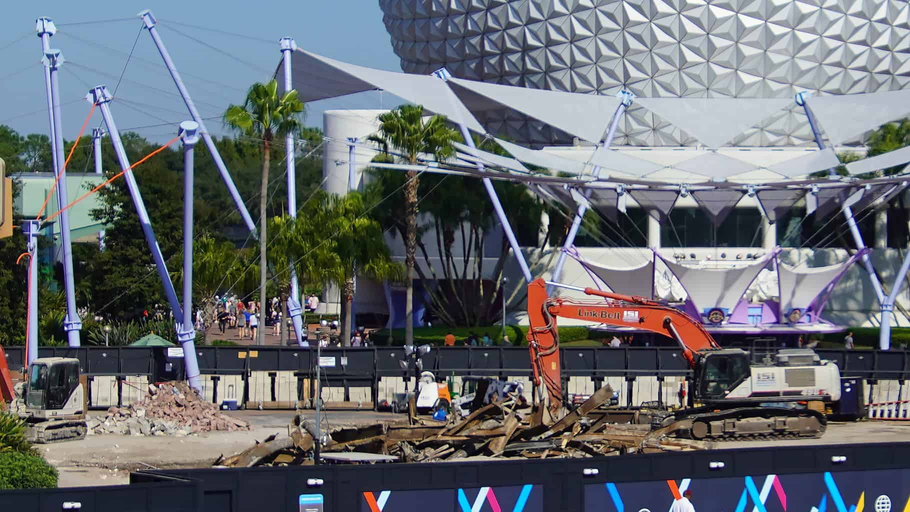Fountain of Nations filled in Epcot Construction Updates November 2019