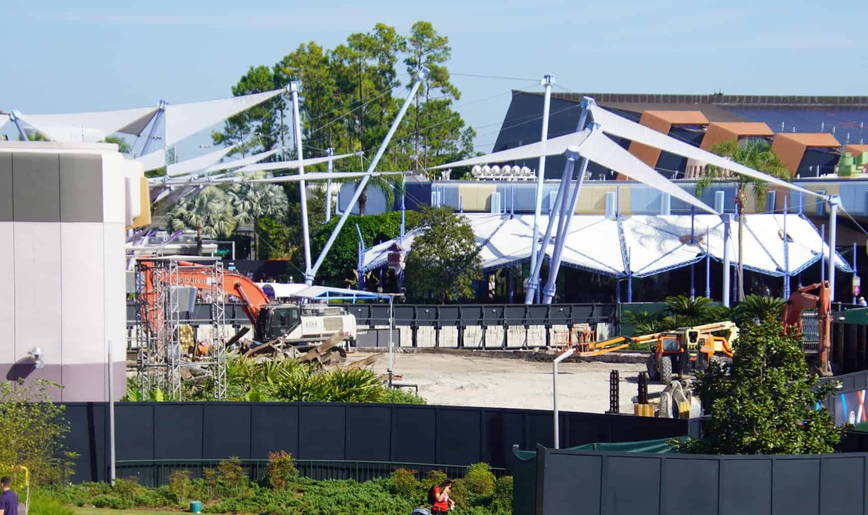 Fountain of Nations filled in 2 Epcot Construction Updates November 2019