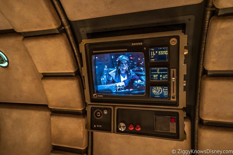 Hondo pre-show video before entering cockpit of Millennium Falcon Smuggler's Run