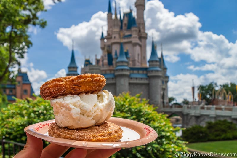 Ice Cream Churro Sandwich Worst Snacks at Magic Kingdom