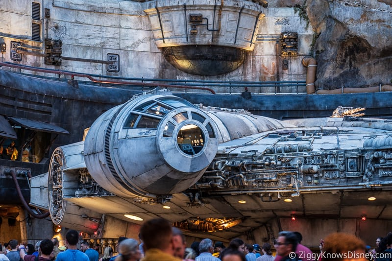 outside of the cockpit for Millennium Falcon in Galaxy's Edge