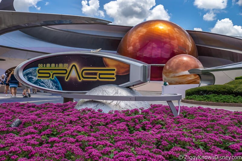 Mission:SPACE sign Epcot