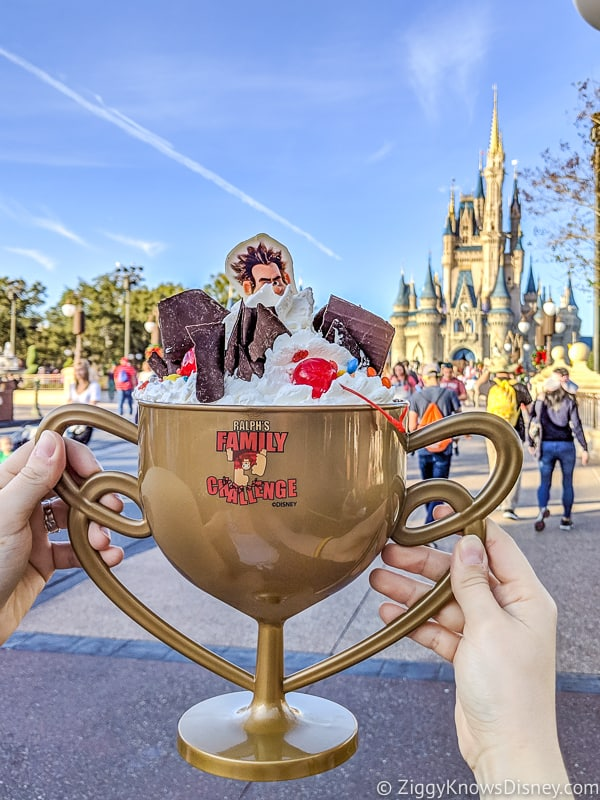 Ralph Sugar Rush Ice Cream Sundae Best Snacks at Magic Kingdom