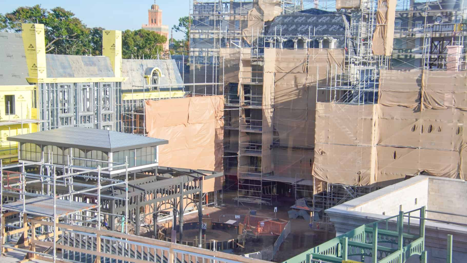 New entrance to Ratatouille France pavilion construction update November 2019