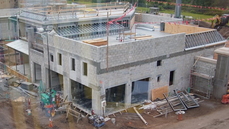 New building going up in France construction project