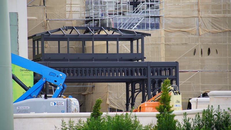 closeup of black steel structure in france Remy's Ratatouille and France Construction Update November 2019