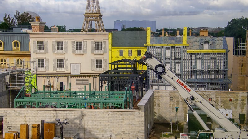 view of the new black structure in France Remy's Ratatouille and France Construction Update November 2019