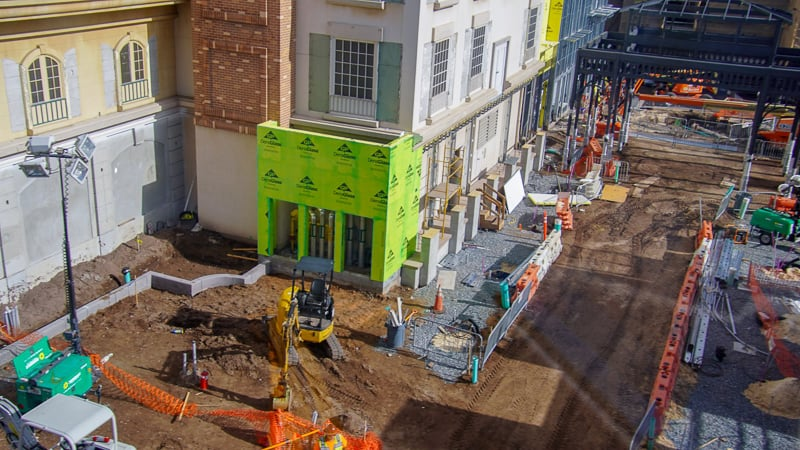 utilities in street Remy's Ratatouille and France Construction Update November 2019