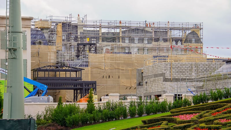 dark steel frame and building facades Remy's Ratatouille and France Construction Update November 2019