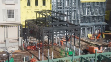 New Black Steel Structure Remy's Ratatouille and France Construction Update November 2019