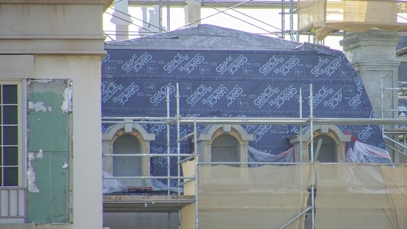 roof construction utilities covered in France pavilion expansion Ratatouille update November 2019