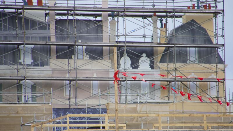 building facades closeup Remy's Ratatouille and France Construction Update November 2019