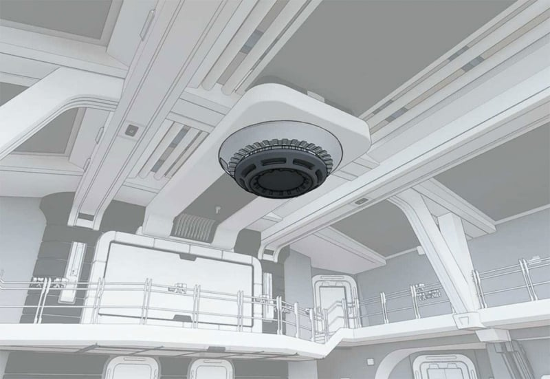ceiling fixture in Star Wars Hotel