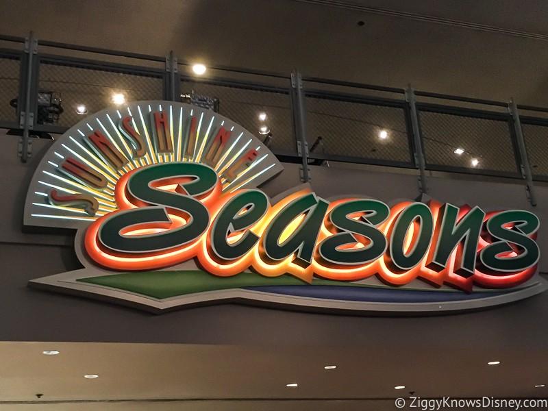 Sunshine Seasons sign Epcot