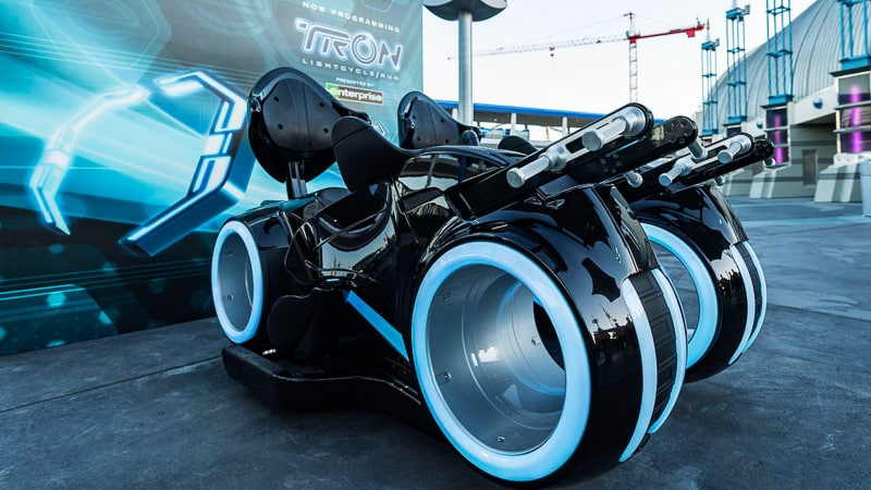 Tron Lightcycle Bikes in Tomorrowland