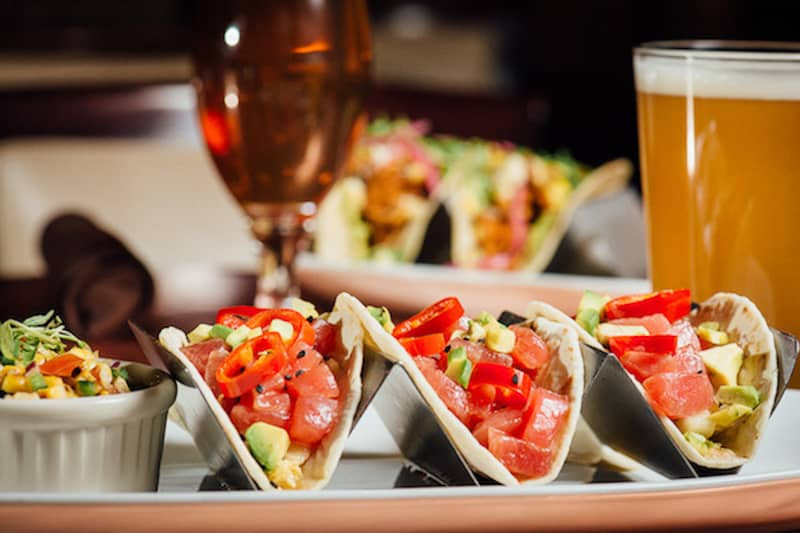 Ahi Tuna Tacos at City Works Eatery & Pour House
