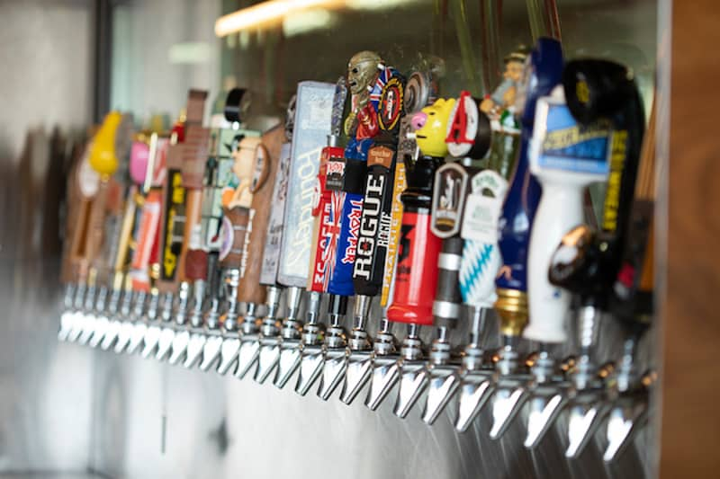 beer on tap at City Works Eatery & Pour House