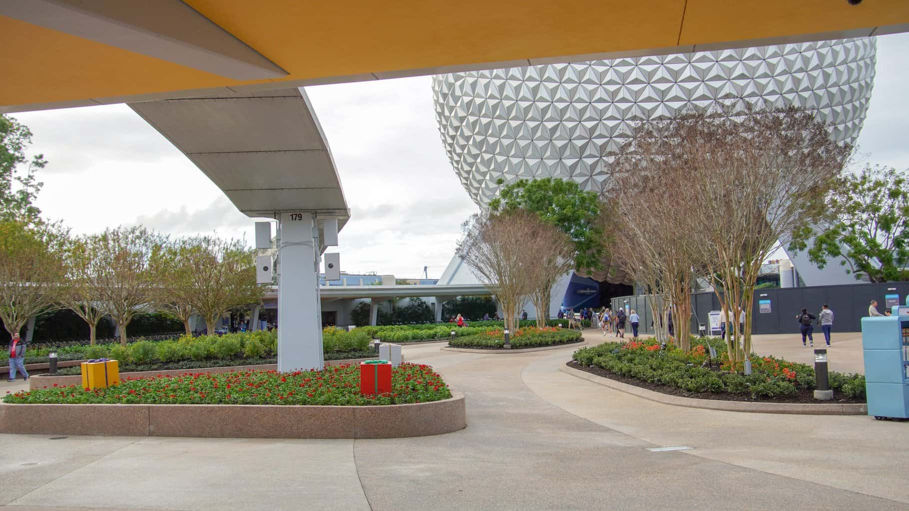 Epcot Entrance East Side Plaza Now Open