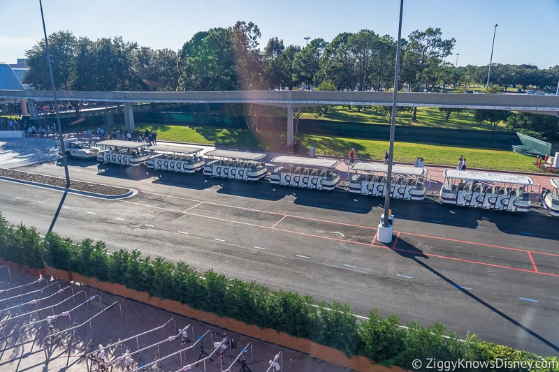 New tram stop outside Epcot Entrance Construction Updates December 2019