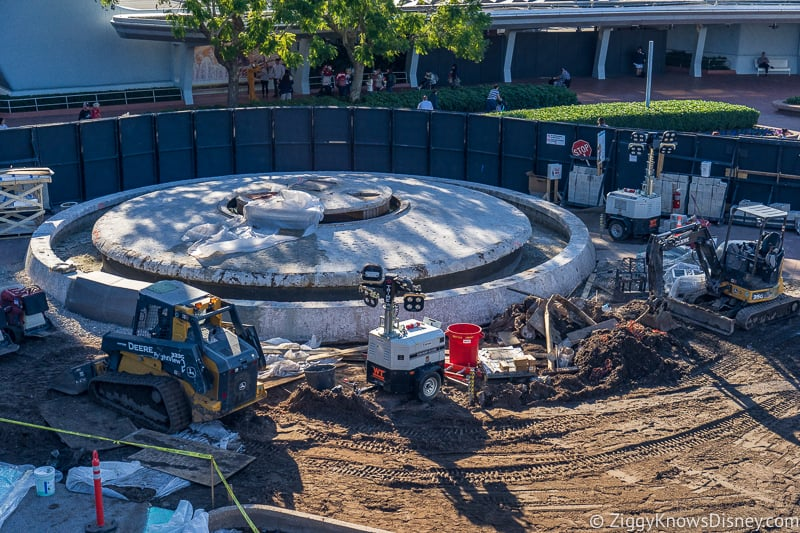 front fountain Epcot Entrance Construction Updates December 2019