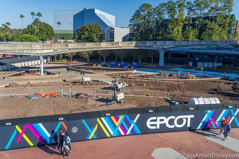 East Entrance Epcot Construction Updates December 2019