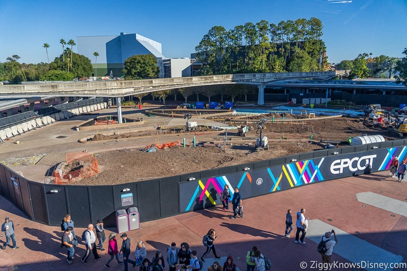 Epcot Entrance East Side Construction Updates December 2019