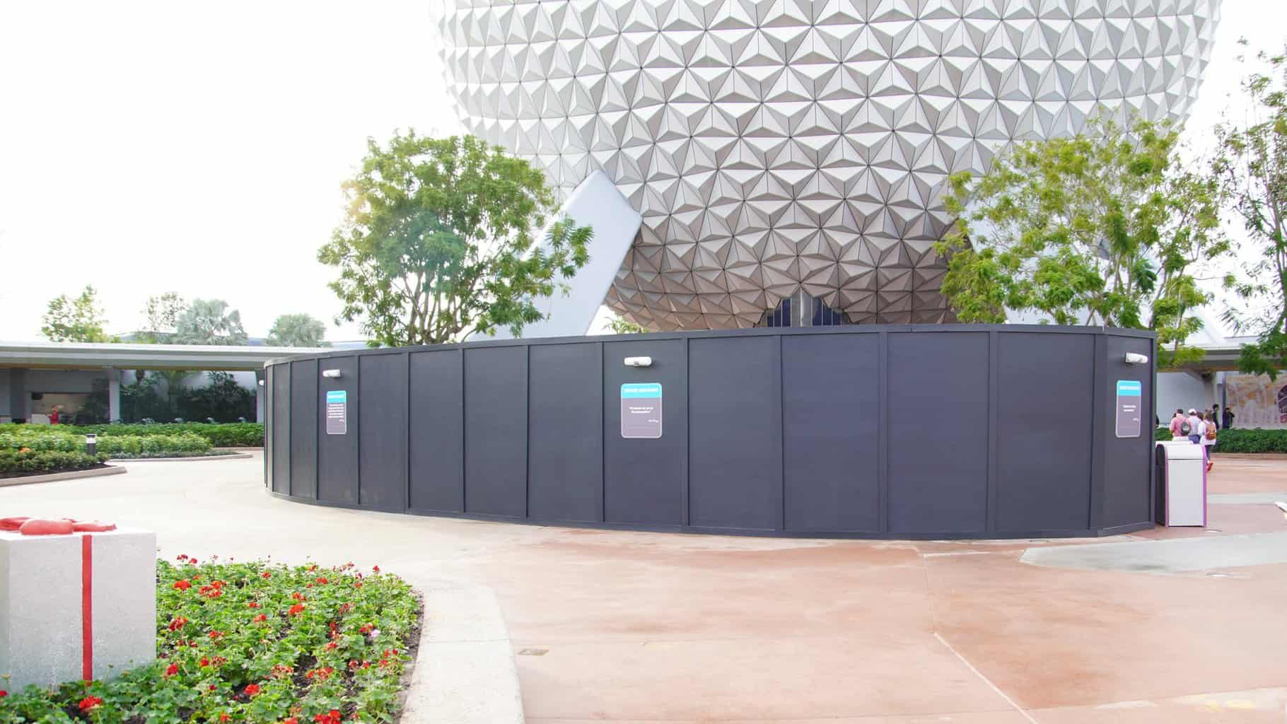walls around the Epcot fountain