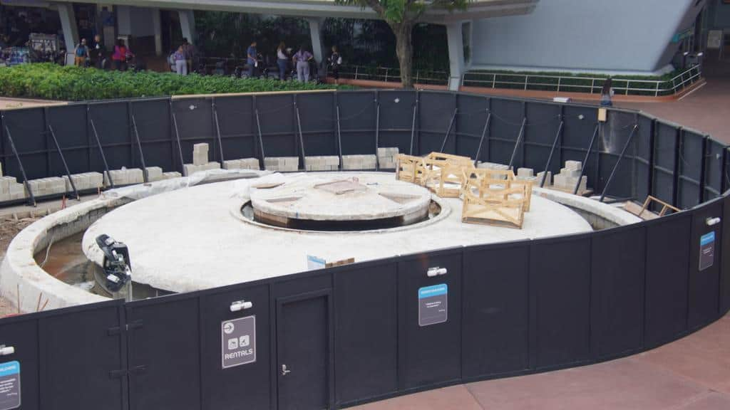 Epcot fountain construction December 2019
