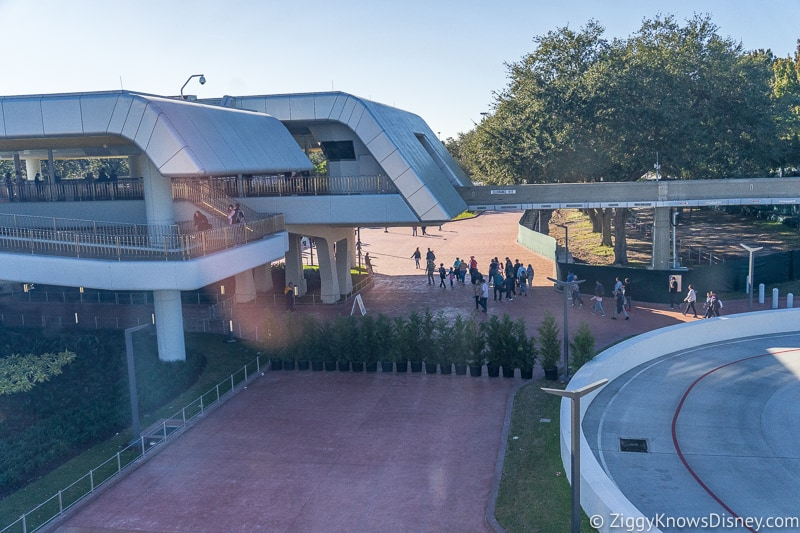 bag check outside Epcot Entrance December 2019