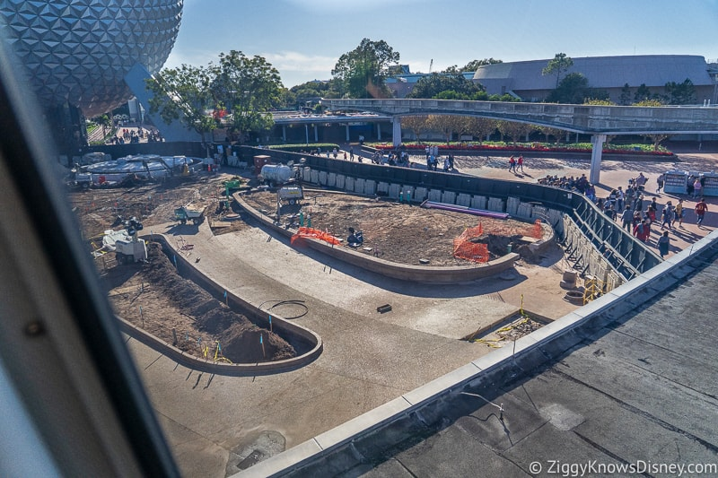 paving the ground at Epcot Entrance Construction Updates December 2019