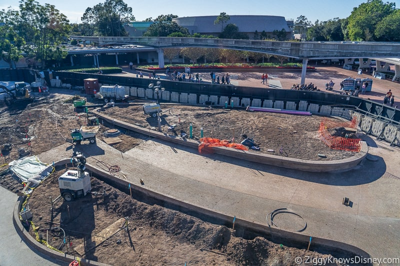 new pavement Epcot Entrance Construction Updates December 2019