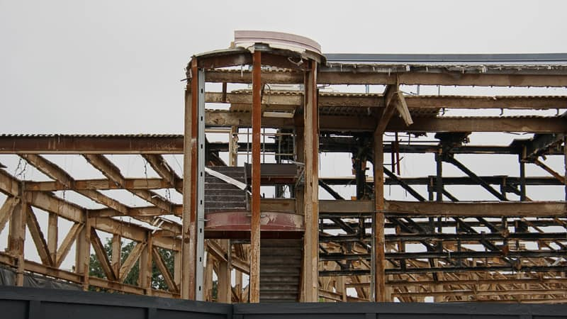 Epcot Future World Construction Updates December 2019 Innventions West stairs