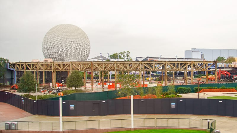 Epcot Future World Construction Updates December 2019 Innoventions Frame