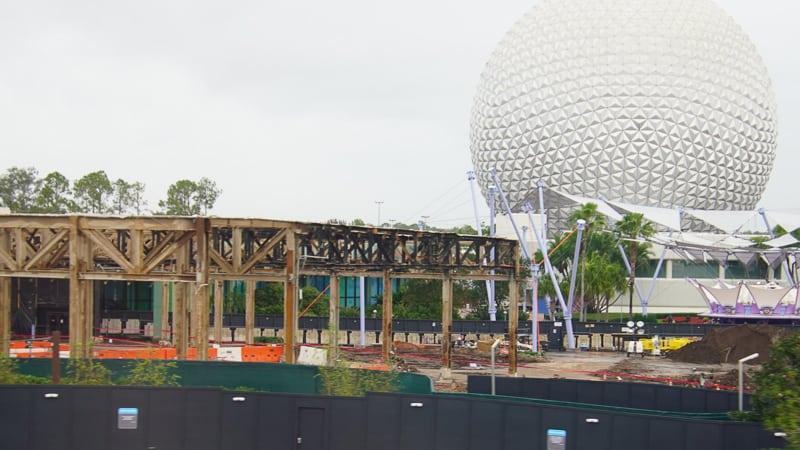 Epcot Future World Construction Updates December 2019 invention frame
