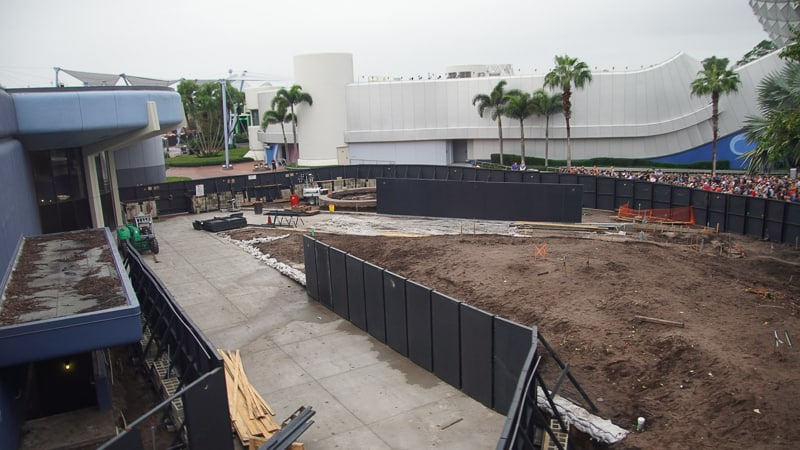 Epcot Future World Construction Updates December 2019 East Side Walkway