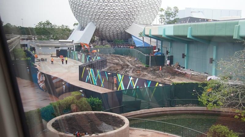 Epcot Future World Construction Updates December 2019 The Seas Walkway