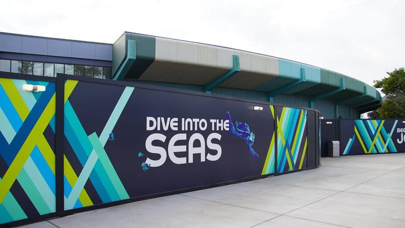 Epcot Future World Construction Updates December 2019 The Seas New Walkway