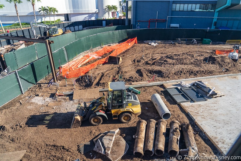 Walkway behind Innoventions West Epcot Future World Construction Updates December 2019