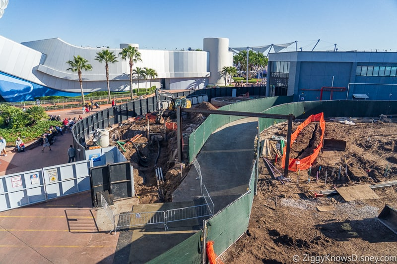 Walkway West of Spaceship Earth Epcot Future World Construction Updates December 2019