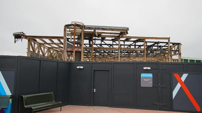 Epcot Future World Construction Updates December 2019 Innoventions West almost destroyed