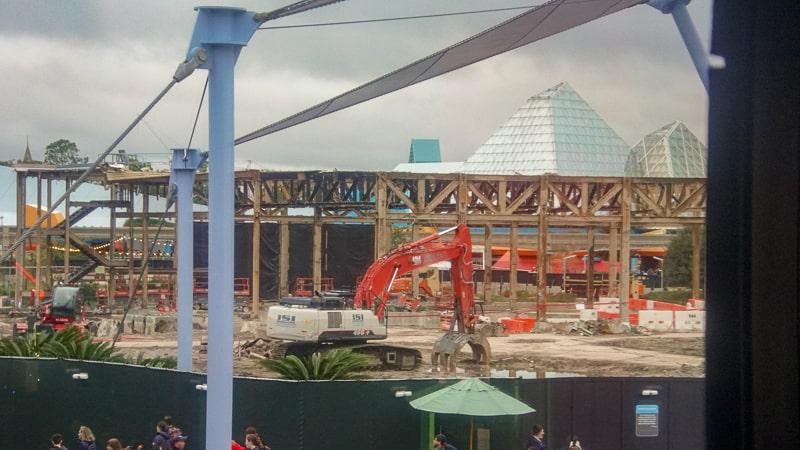 Epcot Future World Construction Updates December 2019 Innoventions West Imagination pavilion